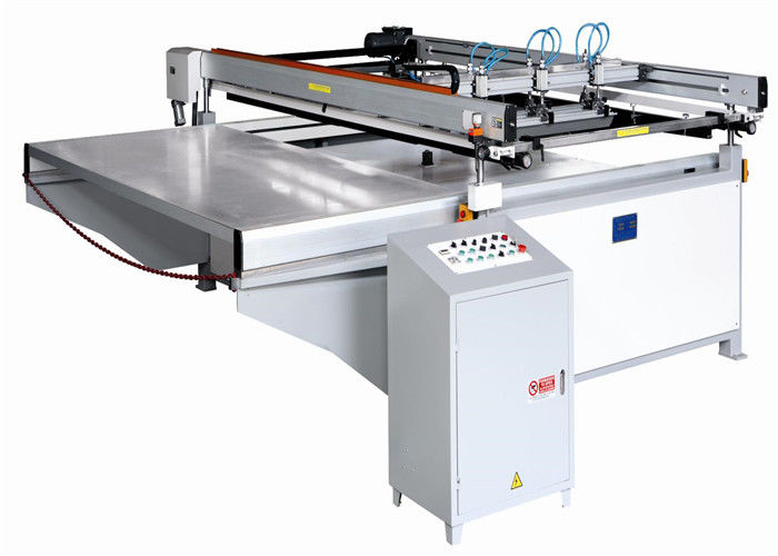 Large Size Semi Automatic Printing Machine Four Post Lift Table Structure